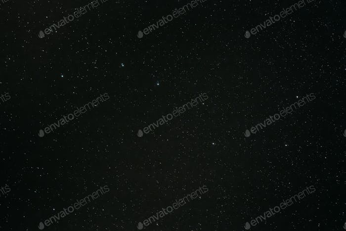 Night Starry Sky With Glowing Stars. Night Starry Sky Background