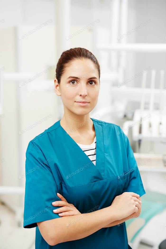 Clinician in uniform