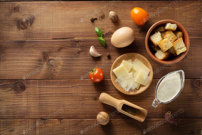 caesar sauce ingredients at wood