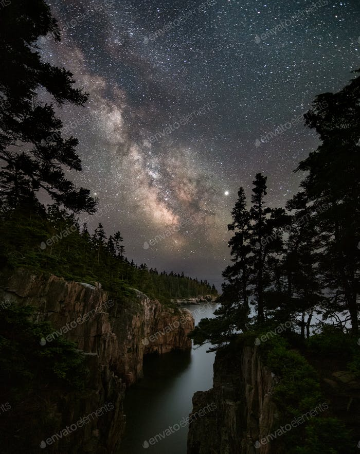Milky Way over Acadia National Park Maine