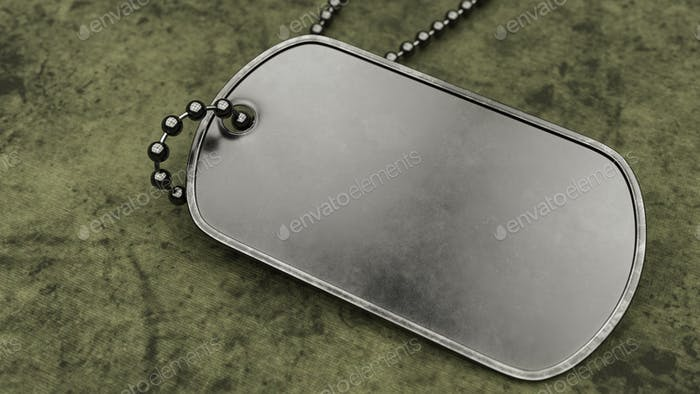 Blank Military Dogtag