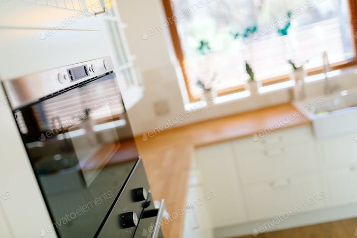 Kitchen appliances in a contemporary interior