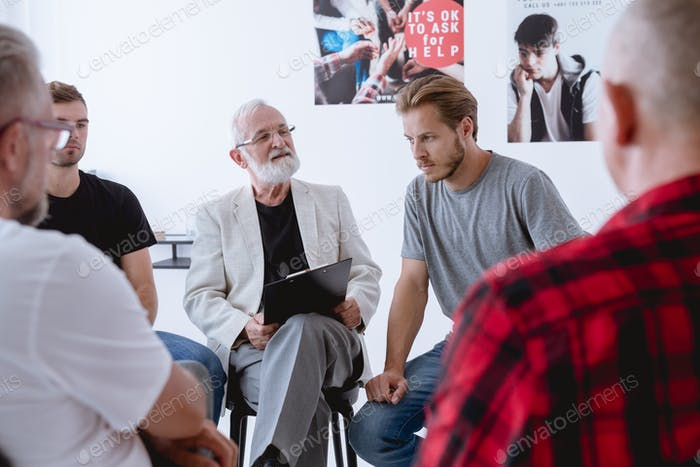 Group psychotherapy for men with different problems and issues