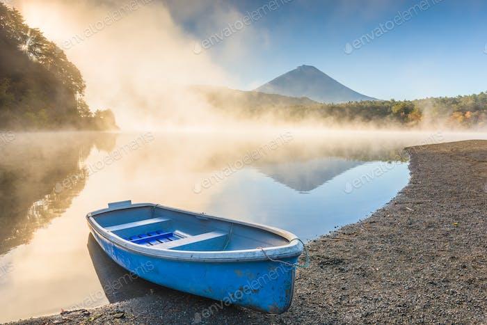 Lake Saiko and Mt. Fuji