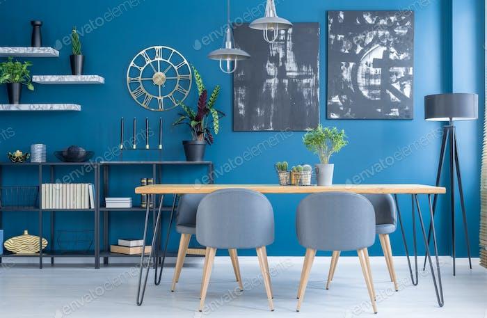 Blue Dining Room Interior Foto Von Bialasiewicz Auf Envato Elements Adorable Blue Dining Room