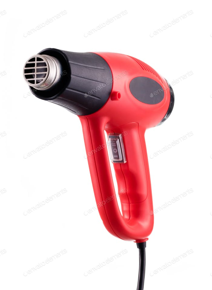 Heat gun isolated on white background