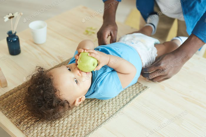 African Baby on Changing Tables