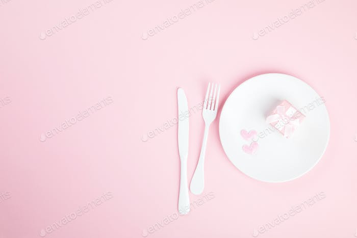 Thumbnail for Festive table setting for Valentines Day