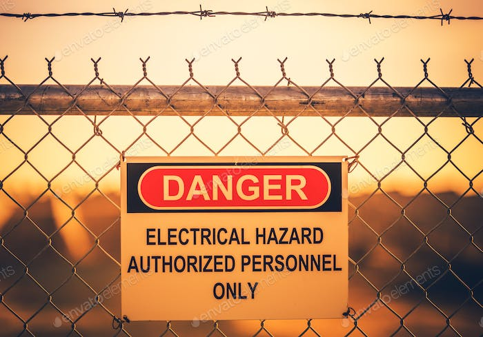 Electrical Hazard Warning Sign