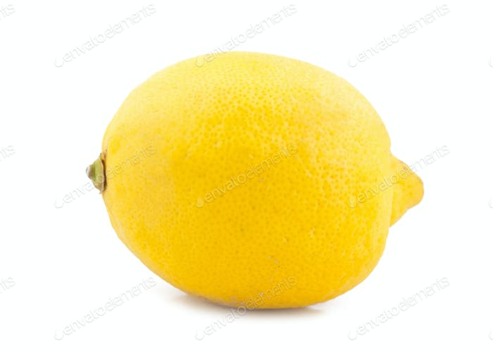 lemon is isolated