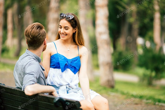 Couple in love spending time in nature