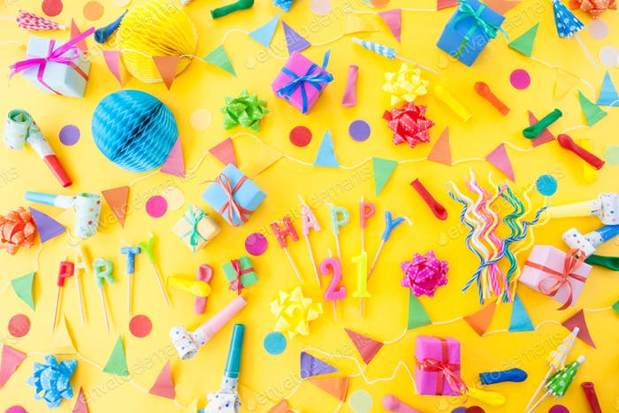 Colorful party props