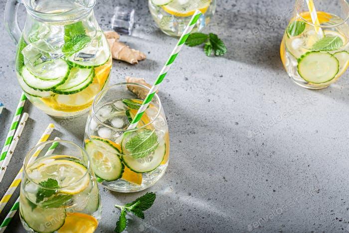 Sommer gesunde Cocktails