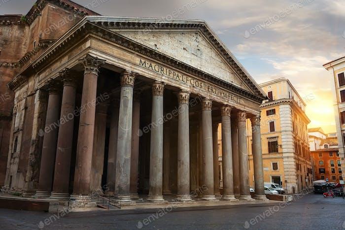 Pantheon at sunset
