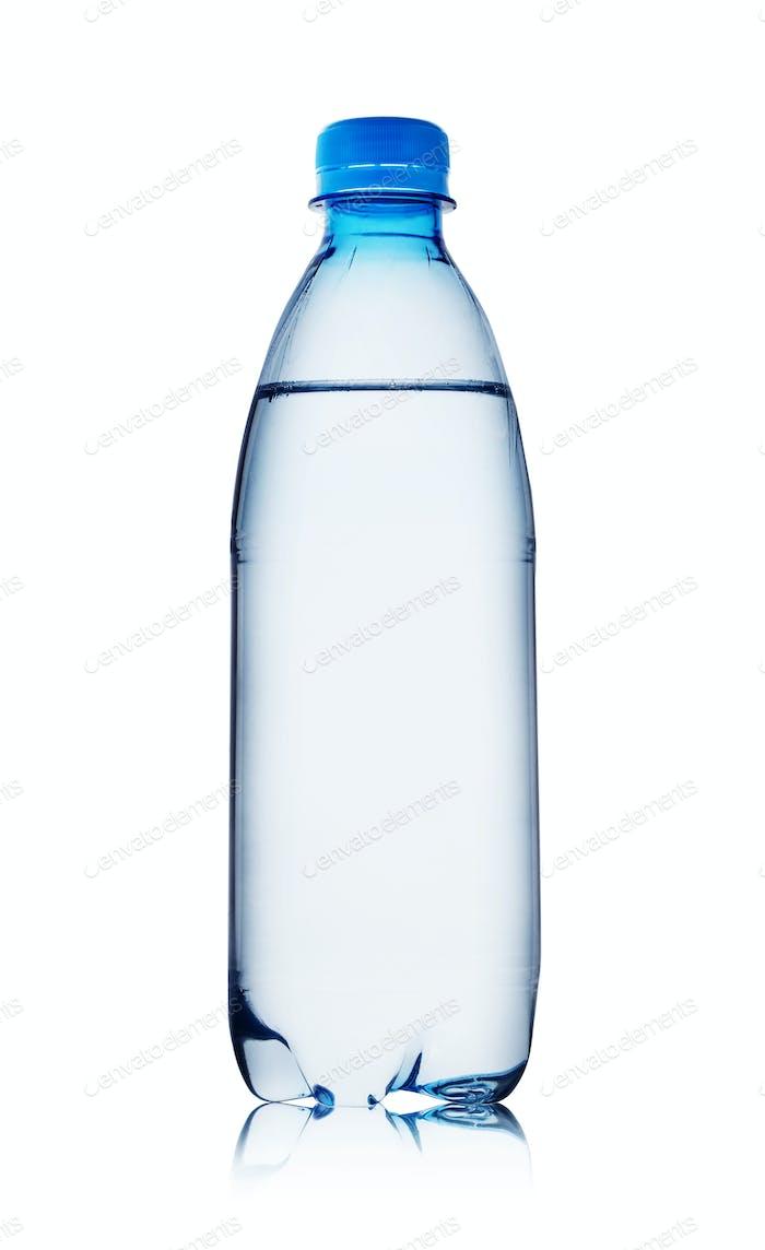 Blue bottle of water