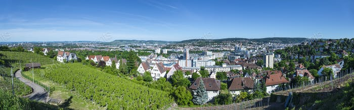 panoramic view to Stuttgart
