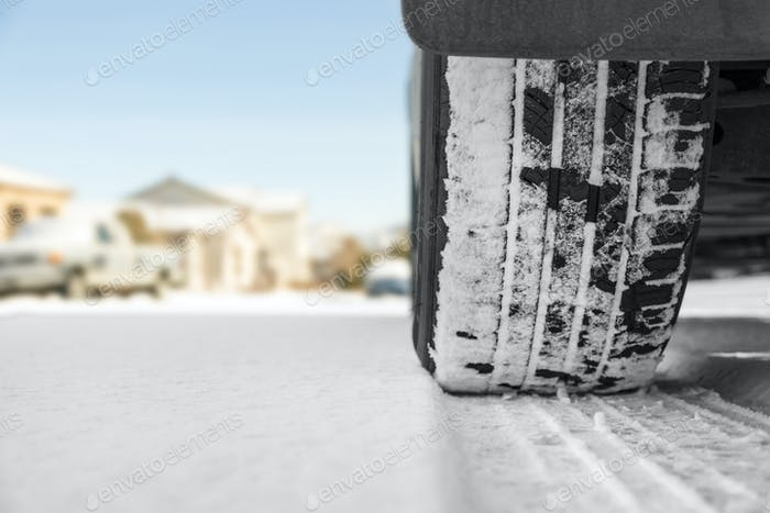 Tire in snow