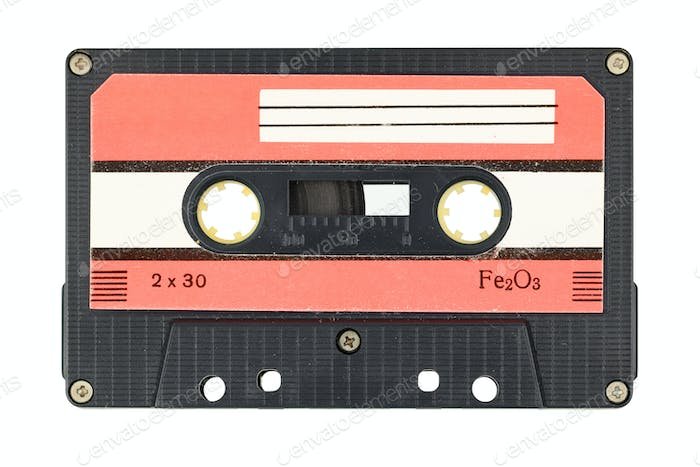 Old audio tape cassette