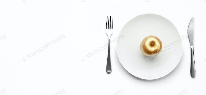 Goldener Apfel der Zwietracht Konzept