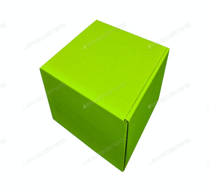 Empty green gift box