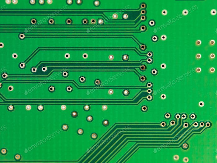 Green printed electronic microcircuit
