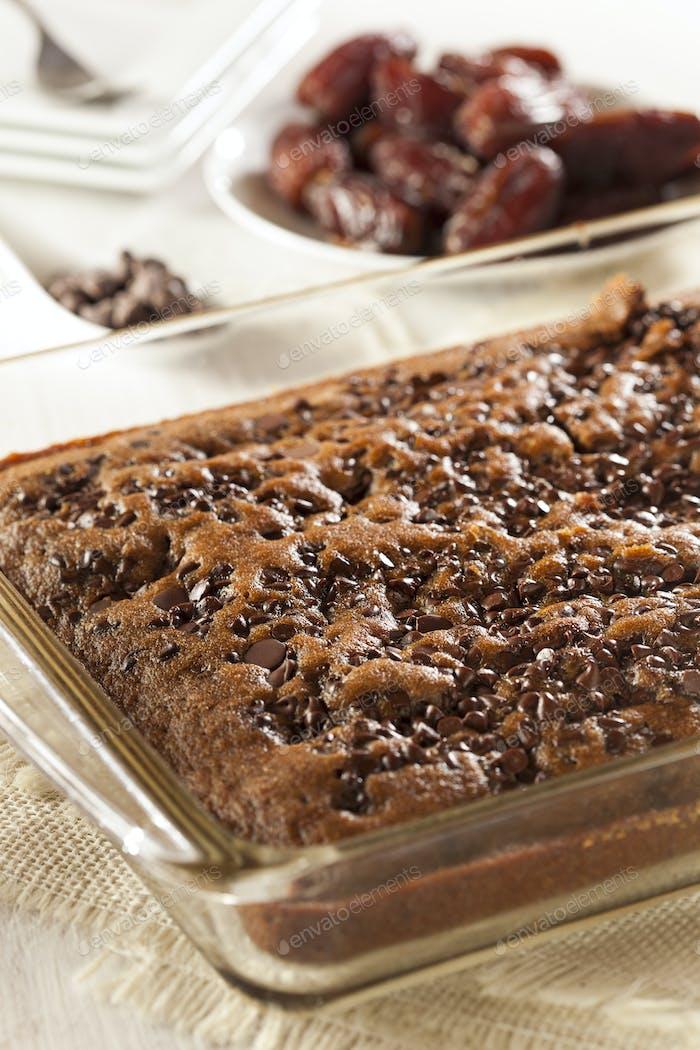Homemade Chocolate Brownie Cake