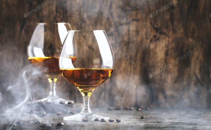 Armagnac, French grape brandy, strong alcoholic drink