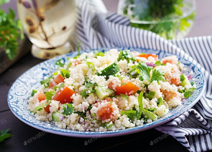 Traditional Lebanese Salad Tabbouleh.
