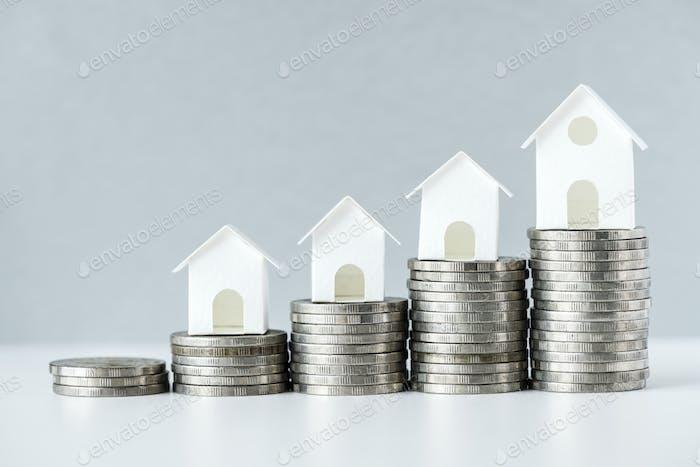 Macro tiro de aumento en Concepto de tasa hipotecaria