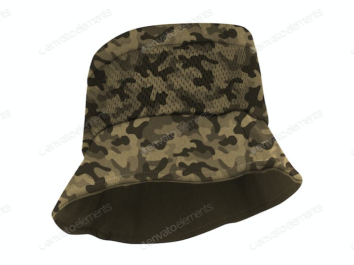 fishing hat isolated on whgite