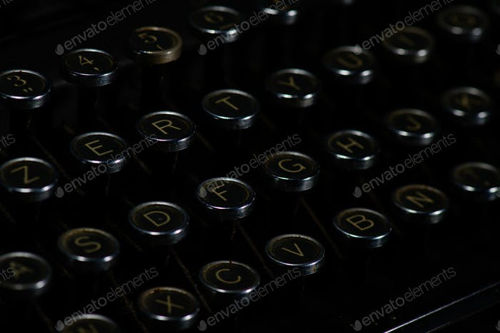 Antike Retro Vintage Schreibmaschine