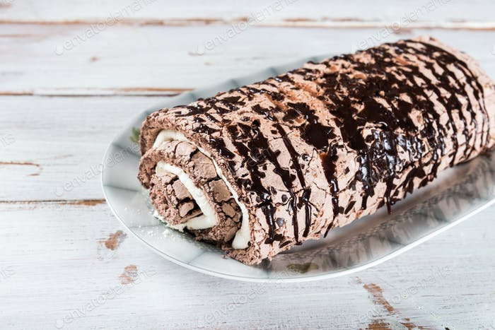Belgian Chocolate Meringue Roulade