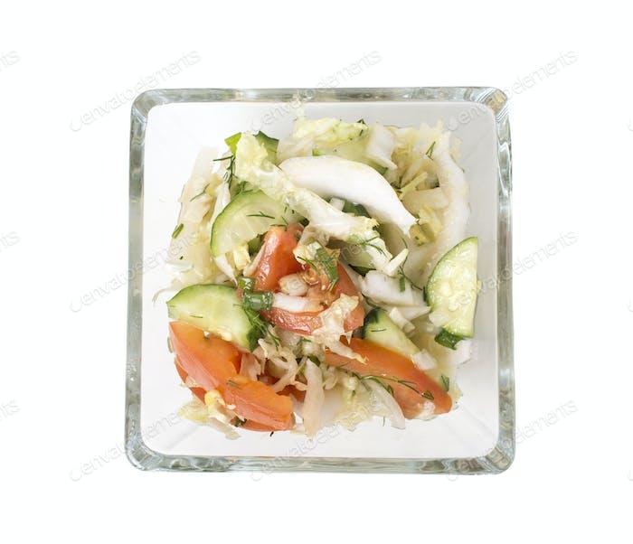 Frischer vegetarischer Salat.