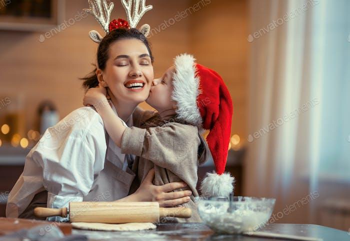 Kochen Weihnachtsplätzchen