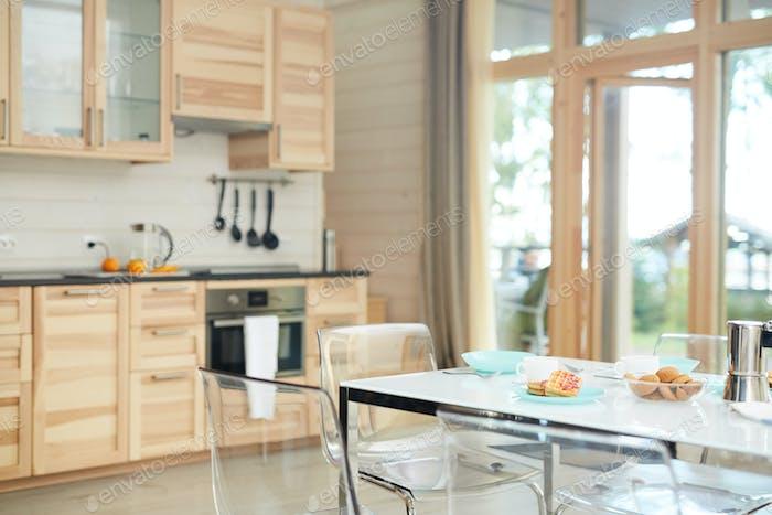 Empty domestic kitchen