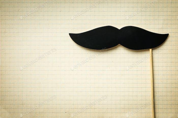 Fake black mustache.