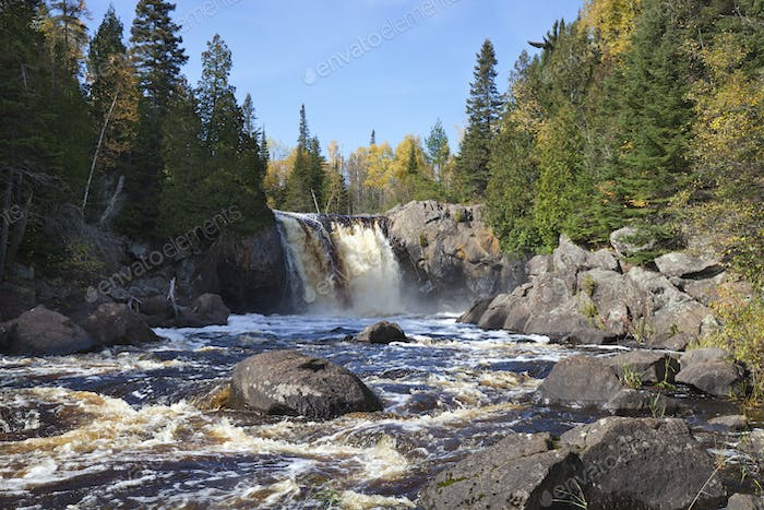 Waterfall on the North Shore of Minnesota in the fall