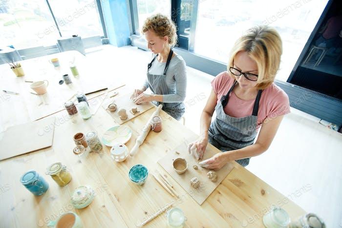 Creating clay masterpieces