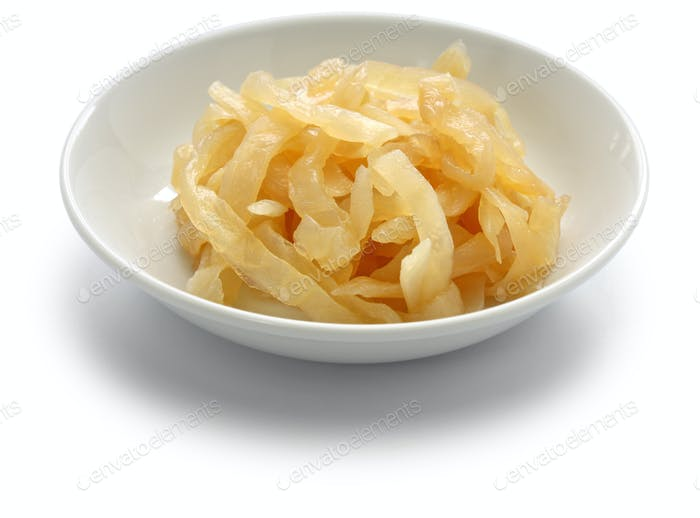 salted jellyfish shreds, chinese foodstuff