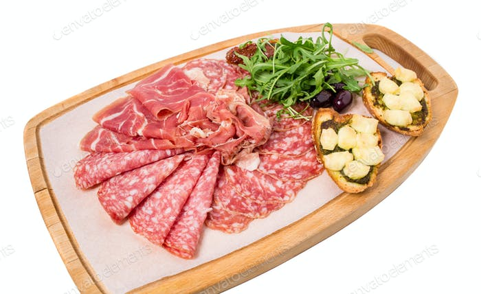 Traditional tuscan antipasto platter.