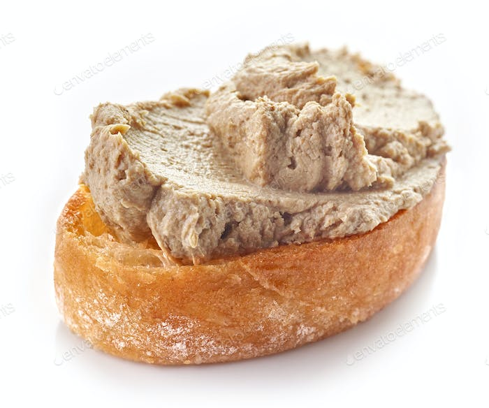toasted bread with homemade liver pate