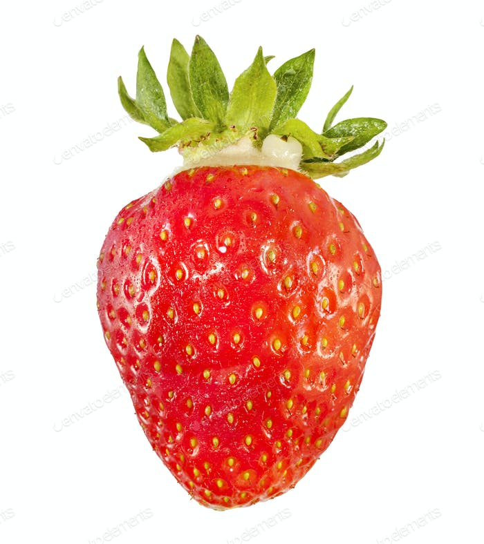 Fresh and tasty strawberry, close up.
