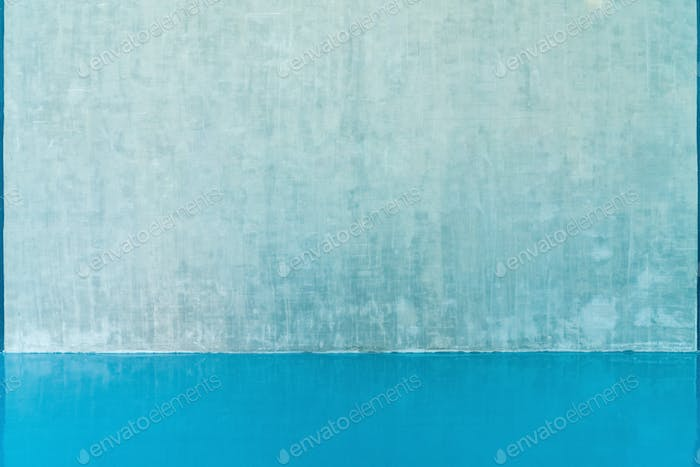 blank wall and blue floor