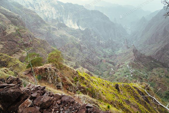 Rocky mountains and Xo-xo valley of Santo Antao island, Cape Verde
