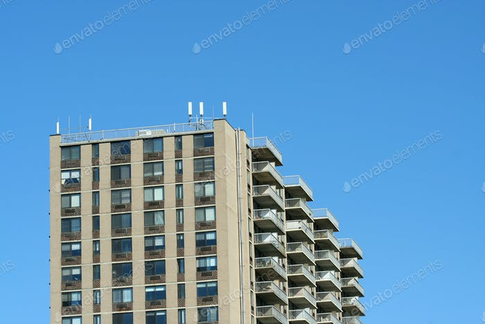 Hi-rise apartment building