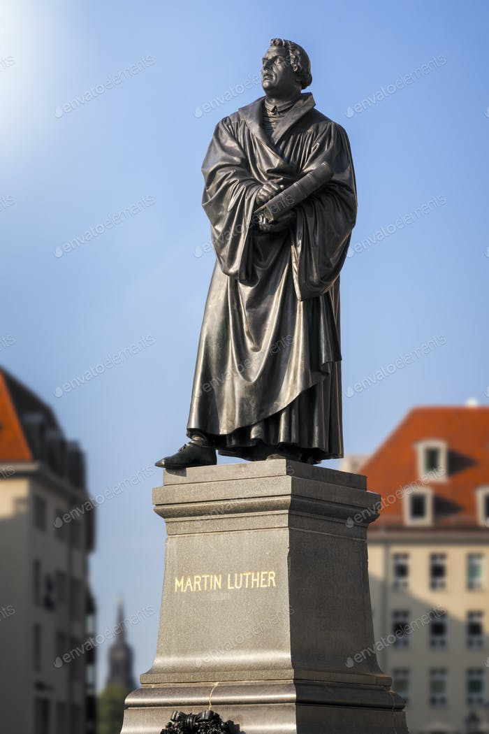Martin Luther Statue Dresden Germany