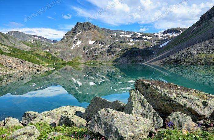 Beautiful Water of small Lake in Eastern Siberia