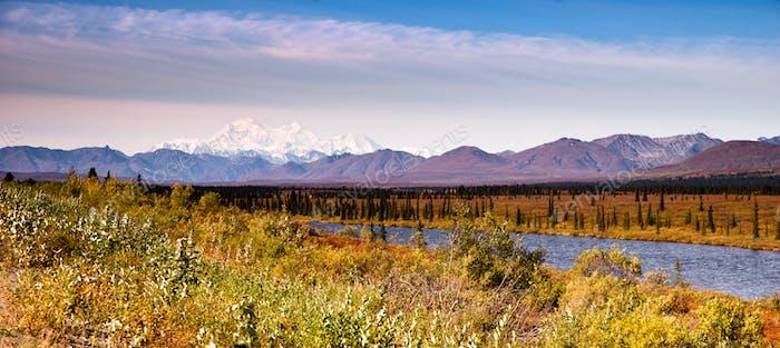 Denali Range Mt McKinley Alaska América del Norte