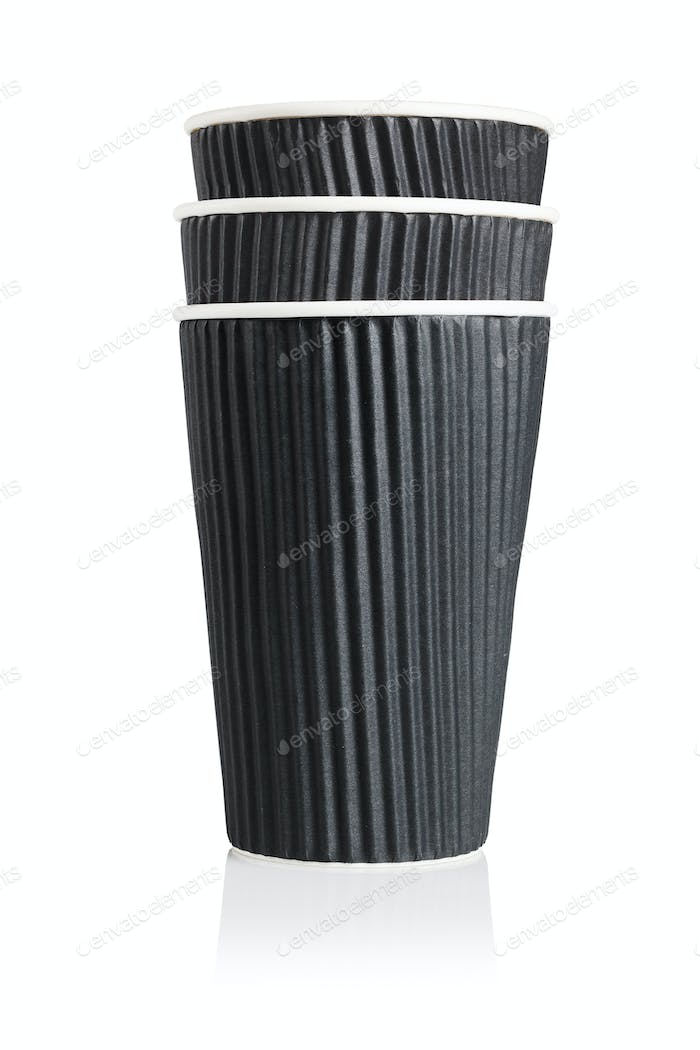 Black Disposable Paper Cups