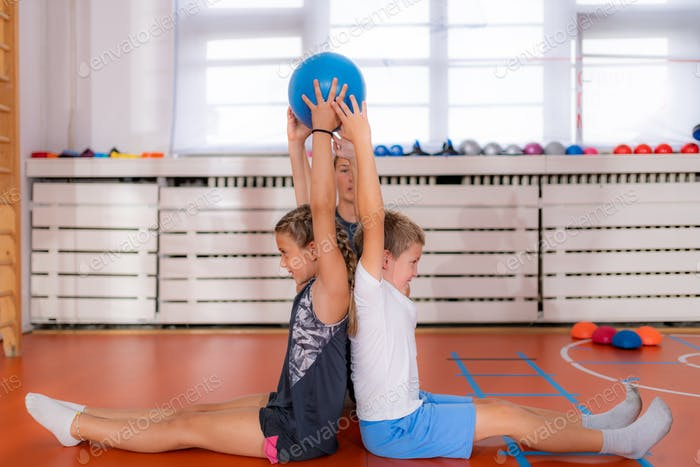 Children in a physical activity class